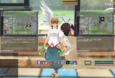 moe 麦藁帽子とグリムガルTシャツ